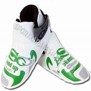 ASG Sparring Kicks White with Neon Green Grey
