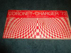 1973 Dodge Charger    Coronet Owner U0026 39 S Manual    Original