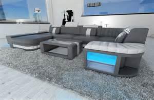 u sofa leder design sectional sofa bellagio led u shape grey white ebay