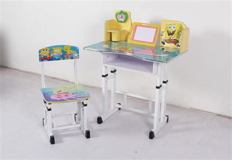 adjustable height children desk and chair study table
