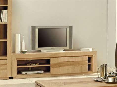 fauteuil de bureau bois meuble tv symphonie 1 porte et 2 étagères chêne huilé
