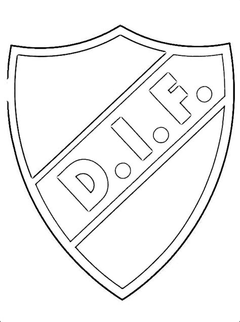 emblem  djurgardens  fotboll coloring page coloring pages