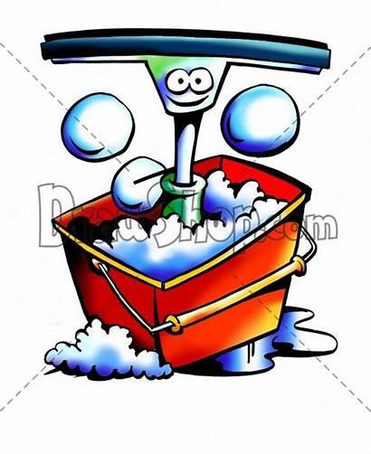 Cleaning Window Bucket Cartoon Bubble Blower Clip