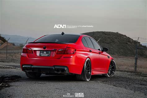 matte red bmw    adv wheels