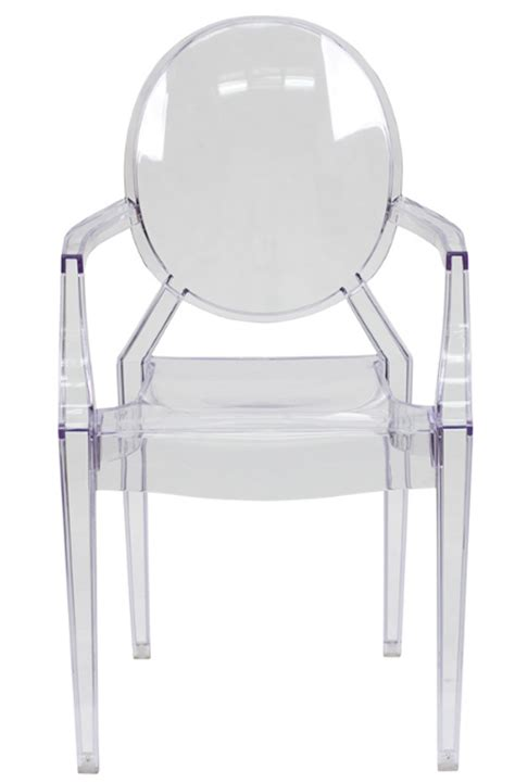 louis xv style transparent ghost arm chair