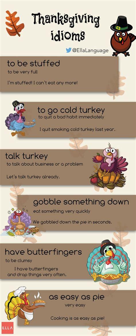 thanksgiving idioms english idioms idioms english