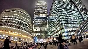 London Lights Tour Canary Wharf Night Time Walk Around London Youtube