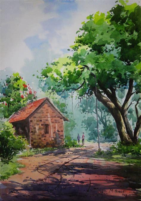 easy  simple landscape painting ideas