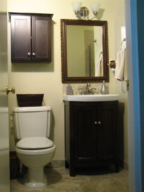 Small Bath Cabinet by Bathroom Small Brown Wooden Cabinet With