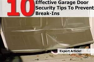 10 Effective Garage Door Security Tips To Prevent Break