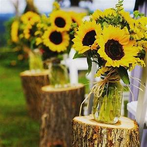 Tischdeko Mit Sonnenblumen : sonnenblumen deko b l u m e n s c h m u c k pinterest ~ Lizthompson.info Haus und Dekorationen