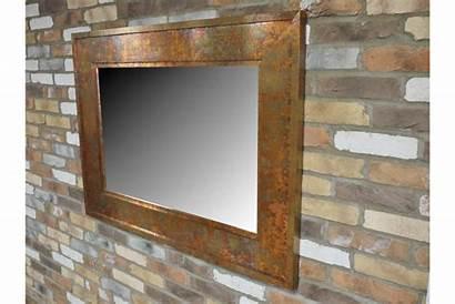 Rustic Mirror Copper Industrial Metal Rusty