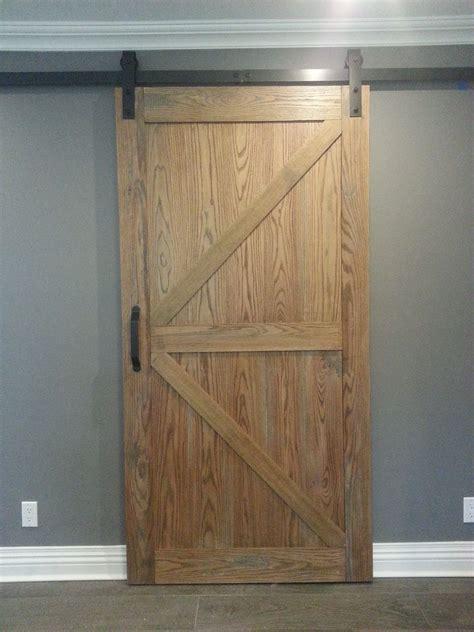 distressed barn door handmade distressed oak barn door slider by ajc