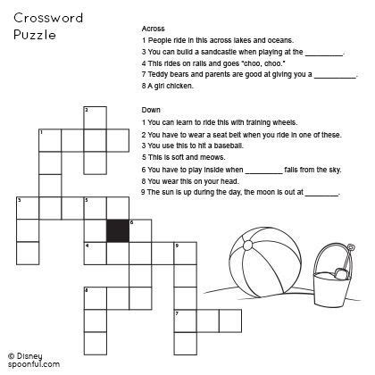 grade beach themed crossword puzzle  images