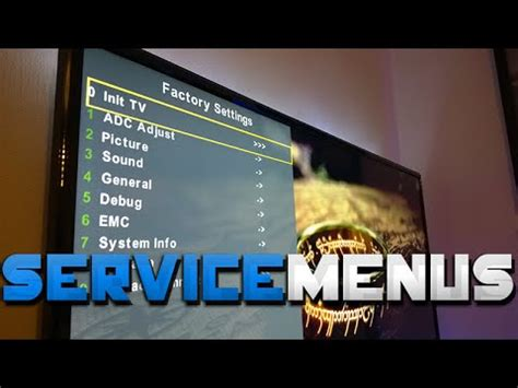 TV Service Menus - Hidden features you didn't know about ...