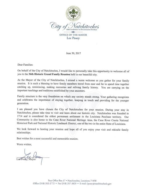 family reunion  letter happy living