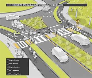The Roundabout Design From The Massdot Separated Bike