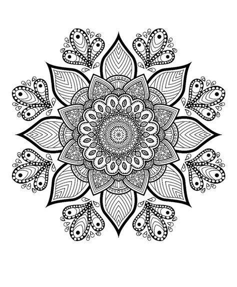grab this free flower themed mandala adult coloring page