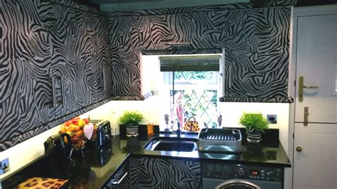 The Incredible Zebra Print Kitchen  Arley Cabinets  Wigan