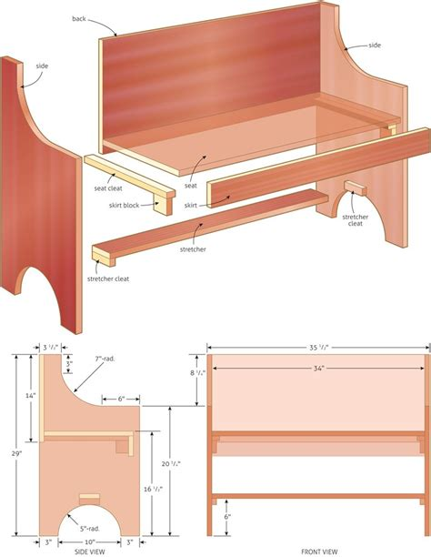 rustic  simple bench plan woodwork city  images