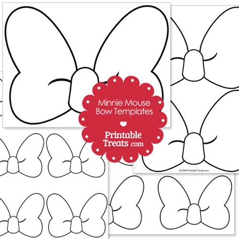 minnie mouse bow template clipartsco
