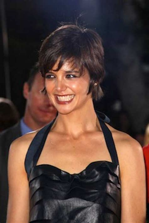 katie holmes pixie cuts short hairstyles
