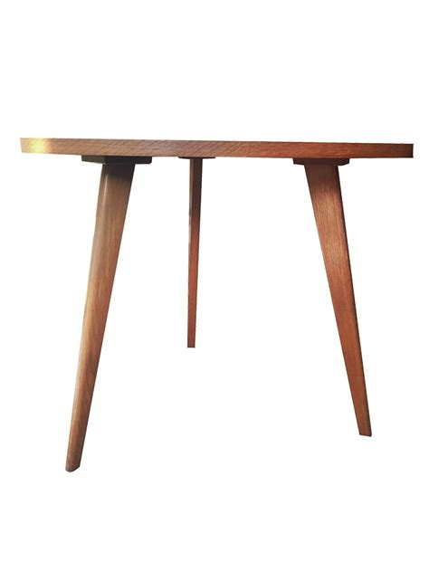 table basse triangulaire en bois 1950 design market