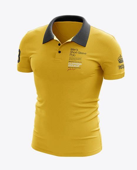 Your resource to discover and connect with designers worldwide. Mens Polo Half Side View Jersey Mockup PSD File 91.51 MB ...