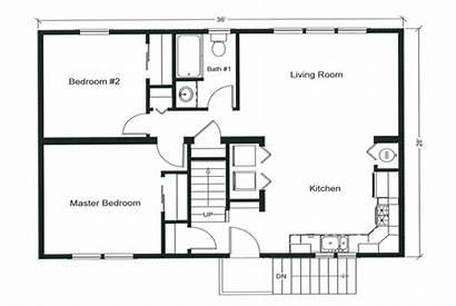 Bedroom Floor Plans Plan Open Apartment Modular