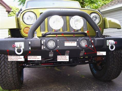 rings  factory front bumper jk forumcom  top
