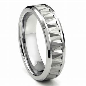 Wedding rings men tungsten wedding rings tungsten for Wedding band under engagement ring