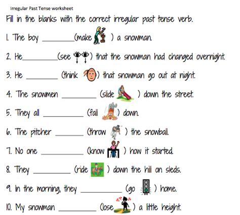 regular past tense verbs worksheets mreichert kids