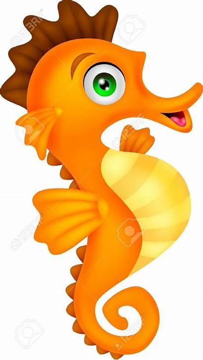 Seahorse Sea Horse Clipart Cartoon Vector Clip