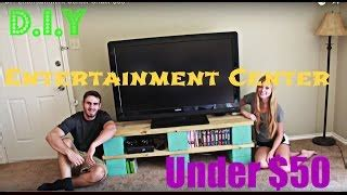 build  entertainment center  stock cabinets