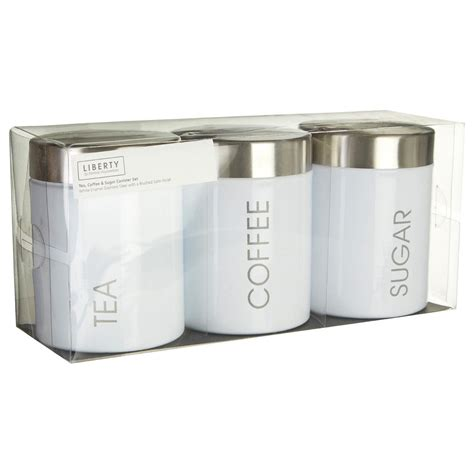 Coffee Kitchen Canisters by Premier Housewares Liberty Tea Coffee And Sugar Canisters