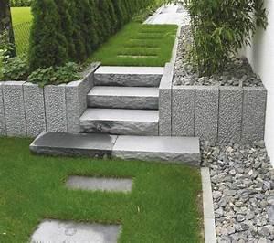 Palisaden Holz Rund : gartengestaltung granit stelen nowaday garden ~ Frokenaadalensverden.com Haus und Dekorationen
