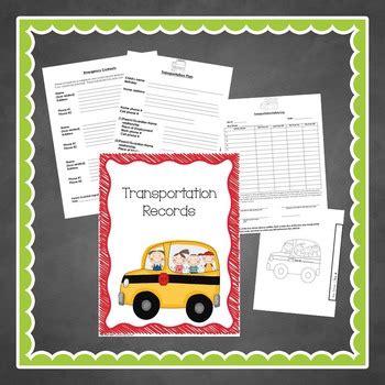 preschool organization binder sign inout