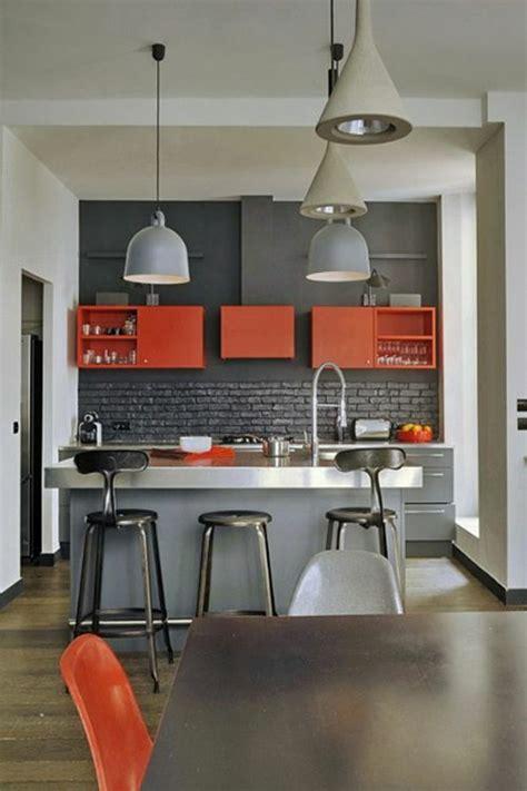cuisine en orange 1001 idées pour décider quelle couleur pour les murs d