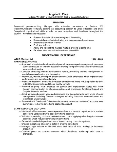 Ideas For Skills On A Resume by Accounting Skills Resume Berathen