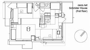 autocad drawing schroder house in utrecht first floor dwg With schematics drawings plans autocad design drafting cs design