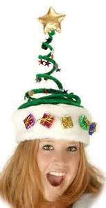 christmas novelty hats trees reindeer turkeys elves and other assorted fun head wear