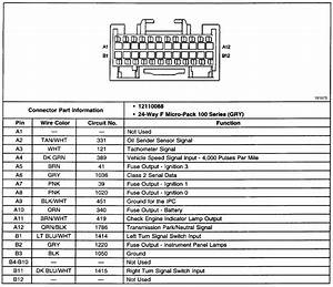 1990 Chevy Truck Instrument Cluster Wiring Diagram