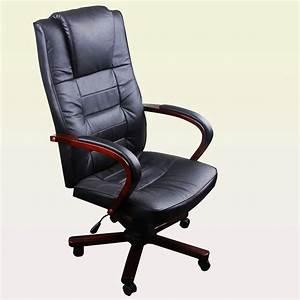 Fauteuil Cuir Et Bois : acheter fauteuil de bureau en cuir m lang et bois pas cher ~ Teatrodelosmanantiales.com Idées de Décoration