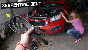 Chevrolet Cruze Serpentine Belt Removal Replacement