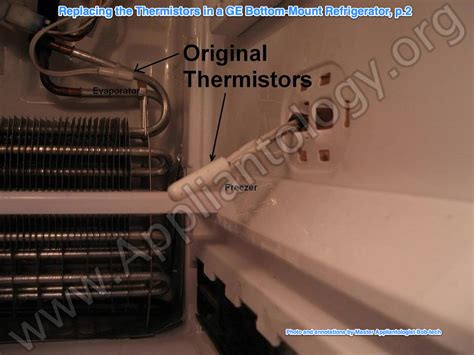 properly replace  thermistors   refrigerator  illustrated  annotated guide
