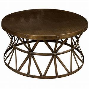 Circle metal coffee table coffee table design ideas for Metal circle coffee table