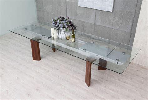 modrest bijou contemporary extendable walnut glass