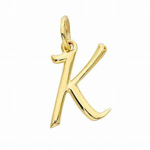 14k yellow gold alphabet charm k With 14k gold letter charms