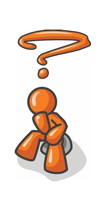 Thinker Clipart Orange Clip Person Questions Vector