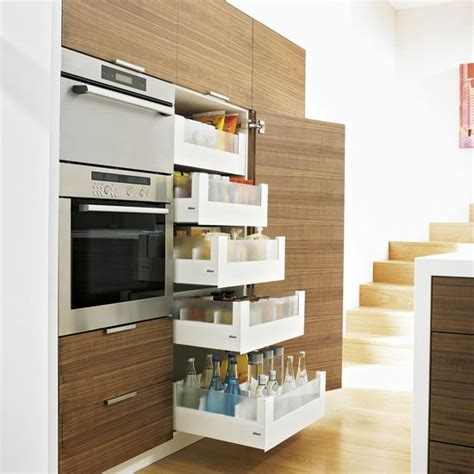 Small Kitchen With Pullout Drawers  Small Kitchen Design